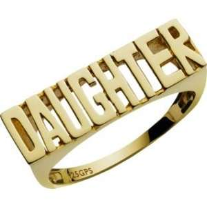 9ct Gold Plated Silver Daughter Ring. £6.99  Was  £16.99  @ ARGOS