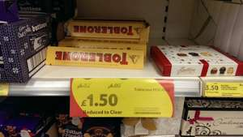 Toblerone Large 400G Bar reduced to £1.50 @ Tesco Express