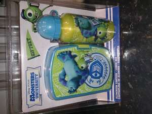 Monsters University Lunch box & flask gift set at Home Bargains
