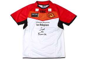 Catalan Dragons Rugby League home shirt reduced by 65% £19.48 @ Lovell Rugby
