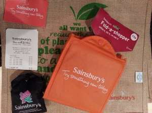 Sainsburys Reusable Shopping Bags @ 1p