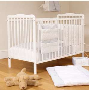 4Baby Solid Wood Eva Classic Cot With Fibre Mattress - Reduced was £169.95 now £79.95 @ Online4baby