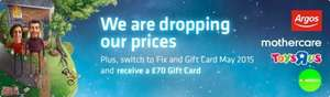 Fix & Gift Card May 2015 Tariff with FREE £70 Shopping Voucher @ British Gas