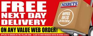 Nisbets free delivery