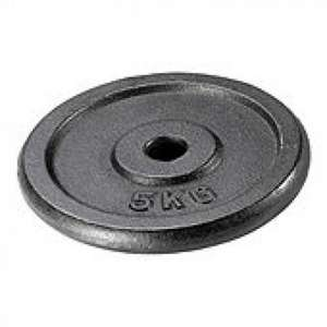 One Body 5kg Cast Iron Weight Plate @ Tesco Direct £3.50
