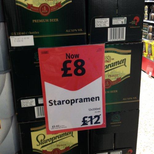 Staropramen beer 12 x 330ml bottles £8 in Morrisons