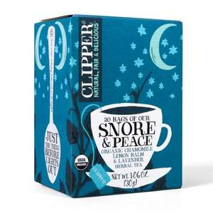Clipper Snore & Peace Tea and After Dinner Mints Tea - 20 bags @ £1 a box at Sainsburys