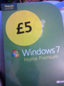Windows 7 Home Premium Upgrade £5 instore at Tesco