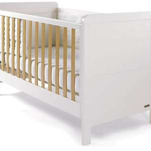 Mamas & Papas Rialto Cot Bed - White/Natural cotbed and matching drawers £1! +£6.95 del. @ Very
