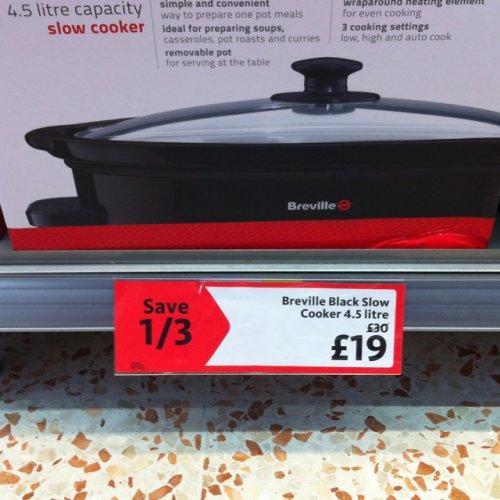 Breville slow cooker - £19 instore @ Morrisons