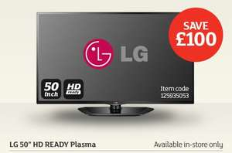 "LG 50PH660V  - 50"" Full HD, SMART, 3D Plasma TV (WiFi ready) £399.99 Sainsbury's in store."