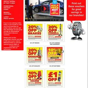 National Tyres Half price MOT and money off other stuff