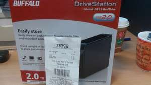 Buffalo 2TB DriveStation USB2.0 Desktop hard drive £15 @ Tesco
