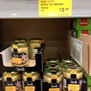 Aldi 10+ Manuka honey 250g  only £3.99 !