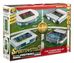 Character Building Sports Stars Football 4-in-1 Stadium Mega Set  WAS £128 NOW £40 @ Tesco Direct with free collection