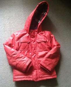 Nutmeg (Morrisons) boys red winter coat just £4 at Guiseley store, Leeds