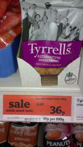 Tyrells Habas Fritas 80g reduced to 36p in Sainsbury's (RRP £1.20)