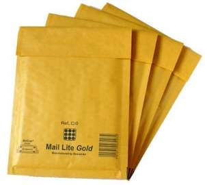 100 White Padded Bubble Envelopes (Jiffy) Free Delivery @ Amazon sold by GRAND GADGETS