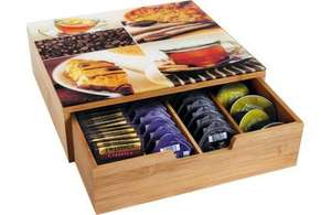 Was £19.99. Any new coffee machine owners, perfect for Tassimos, Bamboo drawer with glass top argos - £8.99