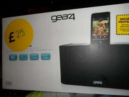 Gear4 HP-60i ipod docking/speaker/charger-   £5 - bargain instore @ Tesco