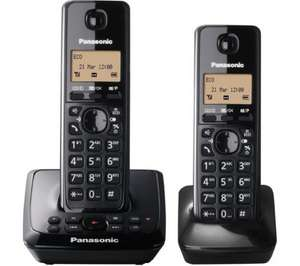 PANASONIC KX-TG2722EB Cordless Phone with Answering Machine - Twin Handsets £29.99 at Currys