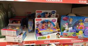 Fisher price little people; cinderellas carriage, ariels coach, cruellas car, alladins carpet, 2 pack figures half price @ sainsburys
