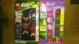 Lego StarWars and Lego Friends Watches, reduced to £1.60 @Sainsburys In-store