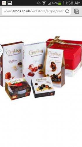 Guylian Hat Box Hamper Gift Set £10.99 at Argos.co.uk .