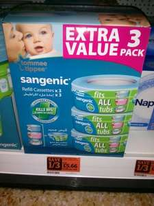 Tommee tippee sangenic refill cassettes x 3 @ sainsbury's for £5.66
