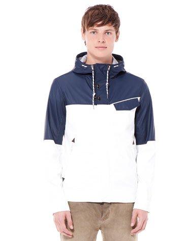 £18.99 Imitation Leather Two Tone Hooded Jacket Bershka Fashion