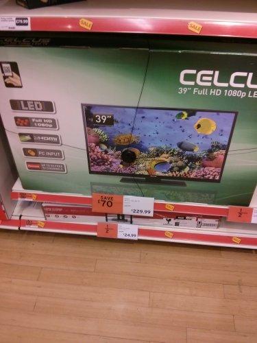 """Sainsbury's Celcus 39"""" - TV 1080p/2HDMI £229.99"""