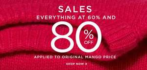 Everything at 60% and 80% off @ Mango Outlet