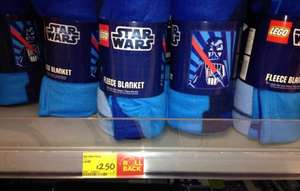 Star Wars Fleece Blanket £2.50 in Asda instore
