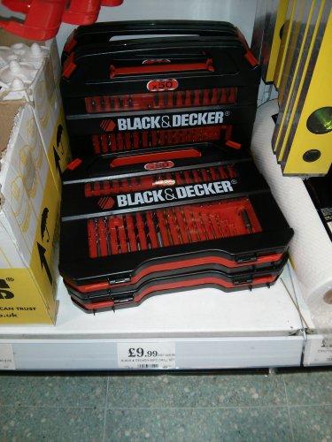 BLACK & DECKER 50pc Drill Set £9.99 @ Home Bargains