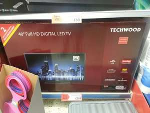 "Techwood 40"" inch LED HD TV with freeview and 2 year guarantee .. £259 @ Morrisons"