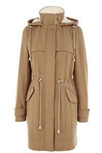 Warehouse Wool Blend Parka Coat £35