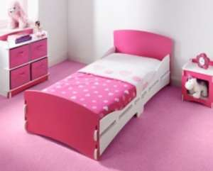 Toddler bed, bedside table and chest of 4 draws, now £49.99 in store B&M nationwide choice of pink or racing car