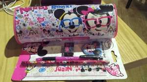 Disney (Micky and Minnie Mouse) Pencil Case and Stationery Set £1 Each; Very cute! @ Poundland