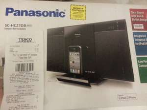 Panasonic SC-HC27db DAB Compact System with iPhone/iPod Dock and CD Player only £10!!!!@Tesco instore