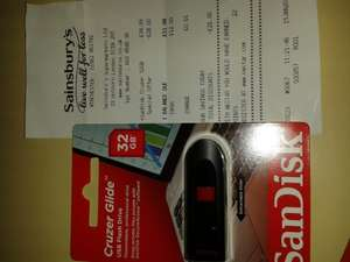 32gb sandisk usb memory stick. £11.99 @ Sainsburys