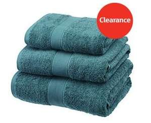 Sainsburys - Clearance on towels, colours: Teal, Duck Egg and Coral  BATH SHEET