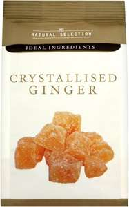 Natural Selection Crystallised Ginger (200g) only 50p at Asda