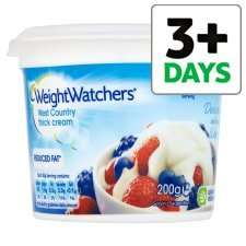 Weight watchers reduced fat cream for 50p and get 20 clubcard points on tesco online