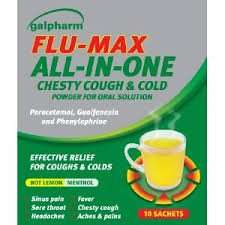 Galpharm  Max Strength Cold & Flu Lemon Flavour 10 Sachets £1.59 @ Aldi.