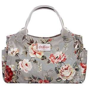 Cath Kidston Garden Rose Grey Handbag back in stock @ JL £25