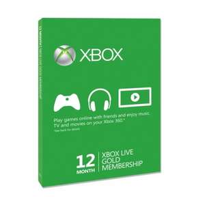 Xbox Live 12 Months Gold Card @ Smyths Toys £23.44 in store (£26.43 if ordering online)