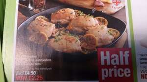 British Skinless and Boneless Chicken Thigh Fillets 520g. Half Price at £2.25 @ The Co-op.