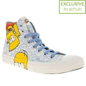 Mens Converse Simpsons Bart & Homer Hi Trainers £19.99 Free Delivery @ Schuh