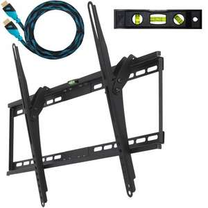 Cheetah Mounts APTMM2B Tilt TV Wall Mount Bracket for 32-65 inch LED with HDMI cable (newest standard with Ethernet) £12.55 delivered @ amazon