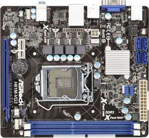 ASRock H61M-VG3 Motherboard Socket 1155 Micro ATX (Mini DTX) @ Amazon